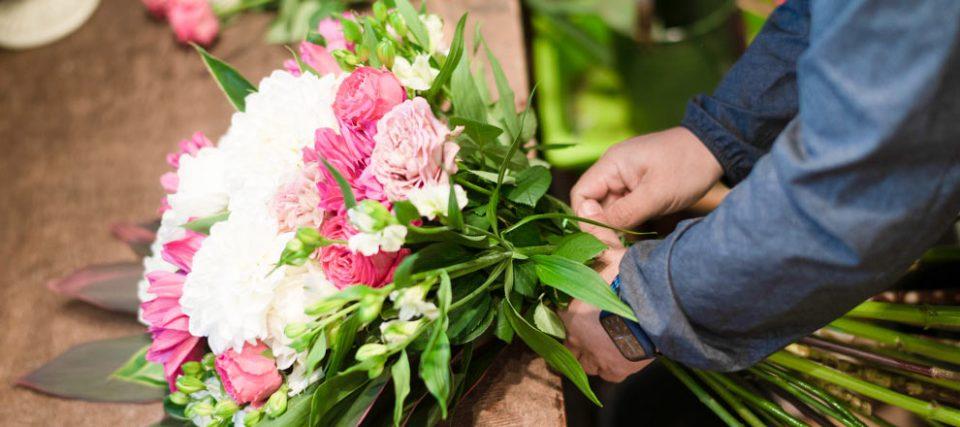 オーダーメイドの花束制作